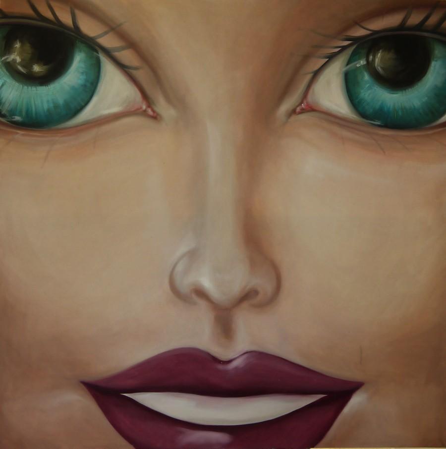 Oil paint on canvas, 110x110cm.